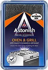 Astonish Specialist Limpiador de horno y parrilla y esponja, 250 g