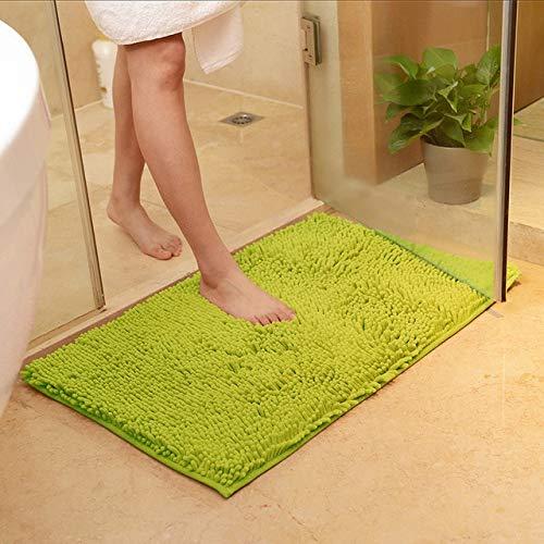 MYSdd Alfombra de baño Antideslizante, Tabis Salle de Bain, cómoda Alfombra de baño para Alfombra de baño, Alfombra de baño de Gran tamaño para Dormitorio, Verde Hierba, Aproximadamente 60x90 cm
