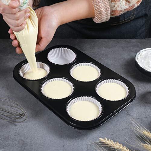 YIN YIN Plaque de Four, 06/04/12 Même gâteau Moule de Cuisson DIY Plateau d'oeuf Tarts gâteau de Tasse de Papier Moule de Cuisson Plat de Cuisson (Size : B)