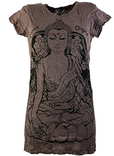Sure: Maglietta Con Grafica Budda, Meditazione / Sure – Magliette Per Abbigliamento Alternativo Da Guru-Shop Marrone 46