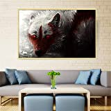 KWzEQ Lobo Carteles e Impresiones Lienzo Arte Animales Salvajes Arte Pop Moderno Arte de la Pared decoración Mural 50X75cmPintura sin Marco