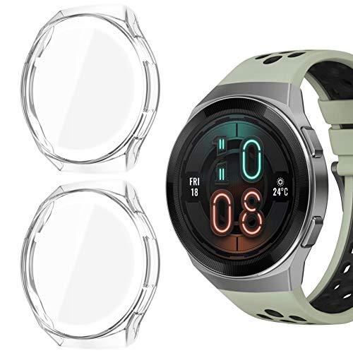 Jvchengxi Protector de Pantalla para Huawei Watch GT 2e, (2 Pack) De TPU Suave Resistente a Los ArañAzos a Prueba de ArañAzos Carcasa Protector para Huawei GT 2e (Claro/Claro)