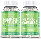 (2Pack) Hemp Oil Capsules 1000mg - Hemp Extract for Pain Relief Sleep Stress Relief Anxiety Relief Mood Support - Natural Hemp Oil Extract Max Value - 120 Ct