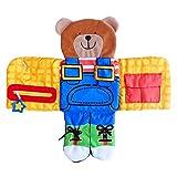 Baby Busy Board, Brettchen Lehrt Grundkenntnisse Lernbretter Weiche Stoff Buch Pädagogisches Spielzeug, Lernen Sie, Puppen Anzuziehen, 45X42cm