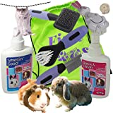 SMALL ANIMAL PET GROOMING KIT-RABBIT BRUSH -GUINEA PIG- HAMSTER- RAT- Small Dog or Cat - KITTEN -PUPPY Accessories Brush,Comb and Instant Shampoo -Fragrant Spray. Toy and Bag