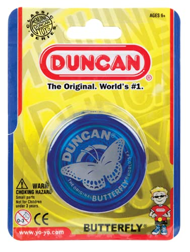 Duncan Toys Butterfly Yo-Yo, Beginner Yo-Yo with String, Steel Axle and Plastic Body, Colors May...