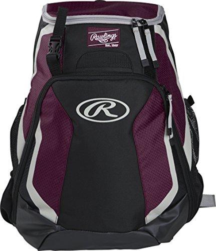 Rawlings R500 Series Baseball/Softball Backpack, Maroon