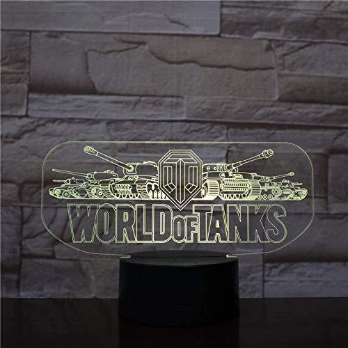 3D Illusion Light Led Night Light World of Tanks Game Touch Sensor Home Decoration s Birthday Gift Children's BirthdayGifts