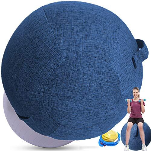 Sedia Ufficio Ergonomica Palla Fitness PilatesPiccolaGrandePalla Per Gravidanza 65 Cm Antiscoppio Per FitballSedia Palla Per Addominali Ginnastica,blue-65