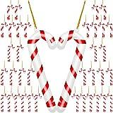 36 Piezas Adornos de Bastón de Caramelo Bastón Colgante de Juguete de Navidad Decoración de Muleta de Fiesta para Arboles de Navidad (13 cm/ 5,1 Pulgadas, 9,5 cm/ 3,7 Pulgadas, 7,5 cm/ 3 Pulgadas)