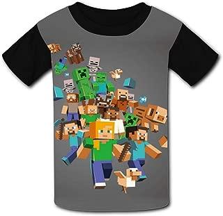 QIANBAIHUI Kids Youth Minecraft 3D Printed Crew Neck T-Shirt Tees
