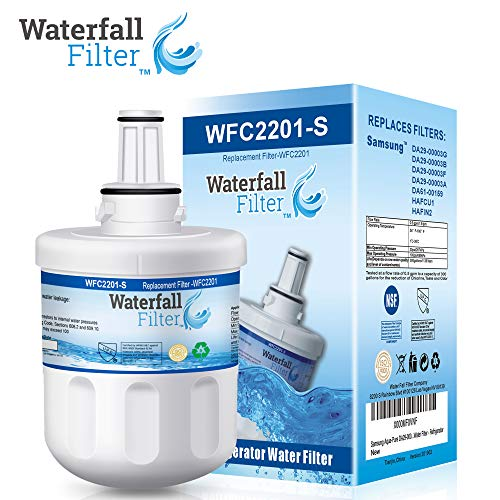 Waterfall Filter - Refrigerator Water Filter Compatible with Samsung...