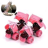 Yuanj Patins à roulettes, Bleu, Rollers Patins Reglables pour Débutant/Tout-Petits Filles/Jeunesse, Cadeau Parfait pour Les Enfants (Rose)