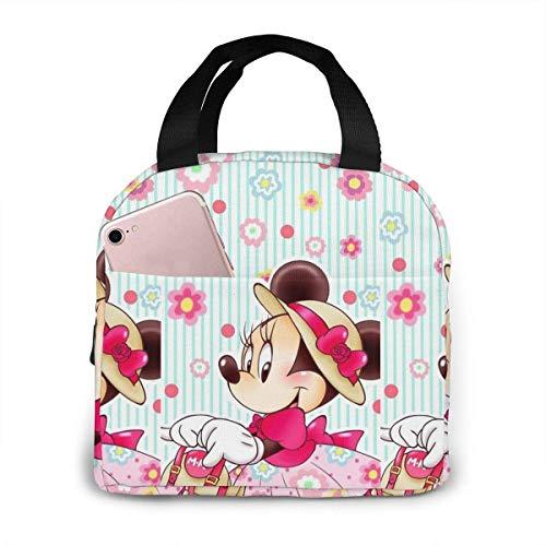 Bolsa de almuerzo elegante Minnie lonchera aislada caja de almuerzo nevera comida contenedores para mujer hombre niños