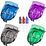 FINGER TEN Golf Ball Line Marker Tool Template Liner Value 4 Pack Gift Set, Ball Markers Stencil Putt Alignment Clip for Men Women Kid (4 Pack Mixed Color Template)