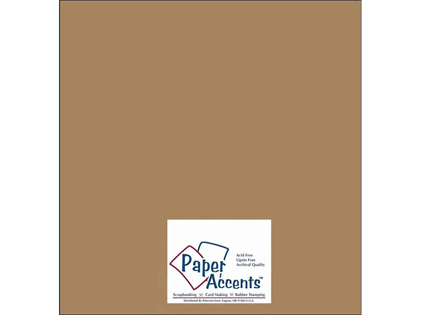 Accent Design Paper Accents ADPaperRecycled12x12BrownBag Cdstk Recycled 12x12 65# Brown Bag