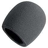Features: Diameter of opening: Approx. 2.17 inch / 55 mm Inside Diameter: Approx. 1.38 inch / 35 mm Length: Approx. 2.76 inch / 70 mm Thickness: 0.24 inch / 6 mm Material: Foam, Suitable for all regular microphones