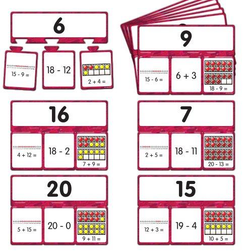 EAI Education Snap Math - Addition & Subtraction Puzzle: Grades 1-2