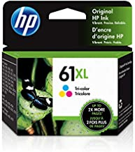 HP 61XL | Ink Cartridge | Tri-color | Works with HP DeskJet 1000 1500 2050 2500 3000 3500 Series, HP ENVY 4500 5500 Series, HP OfficeJet 2600 4600 Series | CH564WN