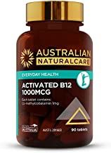 Australian NaturalCare - Everyday Health - 1000mcg Activated B12 Tablets (90 Count)