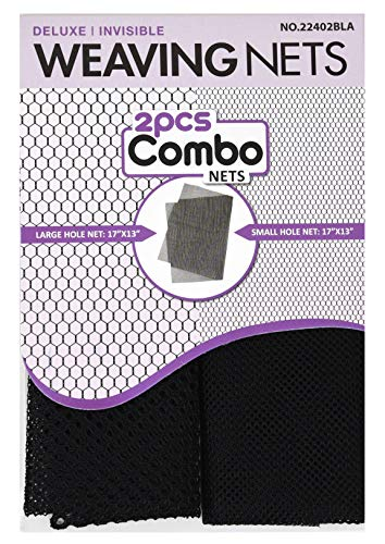 Magic 2 pcs Combo Weaving Nets #22402 Black, deluxe, invisible, hole nets, large hole net, small hole net, fishnet, fish net, by Magic Collection