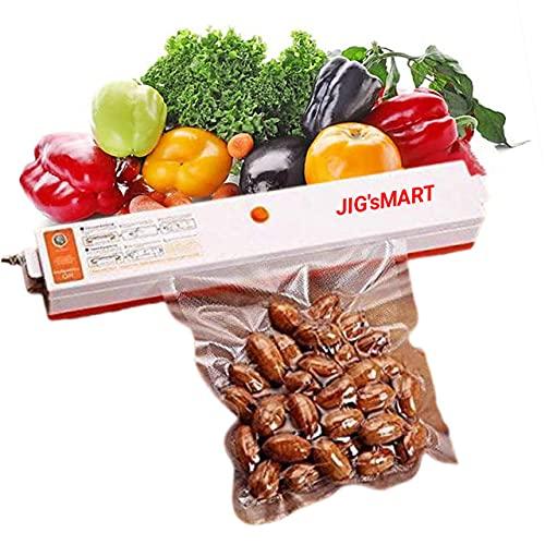 JIG'sMART Vacuum Sealer Machine Airtight Seal Packing Machine For Food Sealing Machine for Plastic Packaging  Automatic Electric Heat Vacuum Food Sealing Machine
