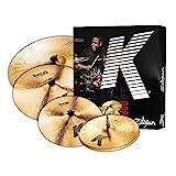 "Zildjian K0800 K Series Cymbal Box Set, 14"" Hi-Hats, 16""/18"" Thin Crash, 20"" Ride, K Pack"