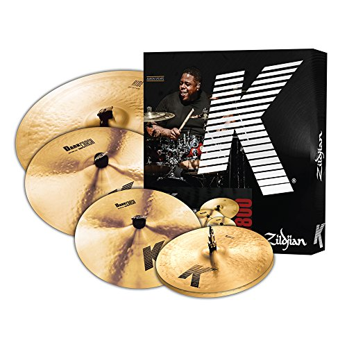 Zildjian K0800 K Series Cymbal Box Set, 14' Hi-Hats, 16'/18' Thin Crash, 20' Ride, K Pack