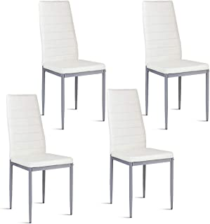 Giantex Set of 4 PU Leather Dining Side Chairs with...