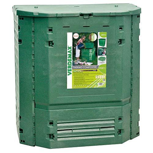 Compostiera da Giardino 900L 100x100xH100cm Rama Thermo-King Verde