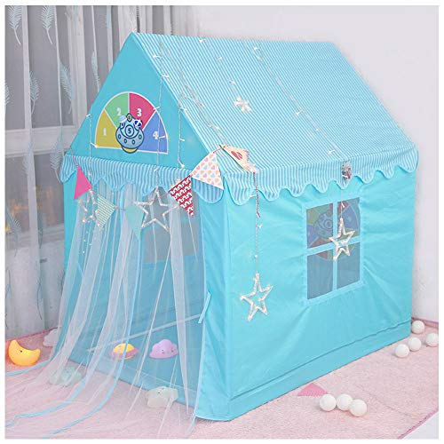 MXYPF Princess Castle Tent Playhouse, Indoor Kids Play Tents with Felt ball, Children Toys House Cloth PVC Bracket, Gift for Girls