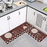 OPLJ Alfombra de Cocina para el hogar, Alfombra para Puerta de Entrada, Alfombra Antideslizante para baño, balcón, decoración para Sala de Estar, Alfombra A8 40x60cm
