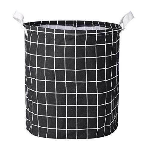KANJJ-YU 1 UNID Cesta de lavadero Plegable Cesta de Picnic Cajas de Almacenamiento de Juguetes Cajas de Gran Capacidad Ropa Sucia Organizador Cesta Picnic (Color : Black)