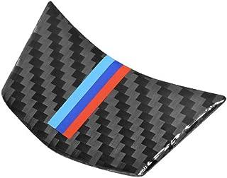 JMY Carbon Fiber Steering Wheel Sticker M Stripe Emblem 3D Car Sticker for BMW E60 2004-2010 5 Series