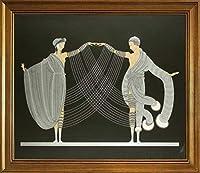 古典フレーム Erte ジクレープリント キャンバス 印刷 複製画 絵画 ポスター(Artodyssey Romain De Tirtoff) #JK