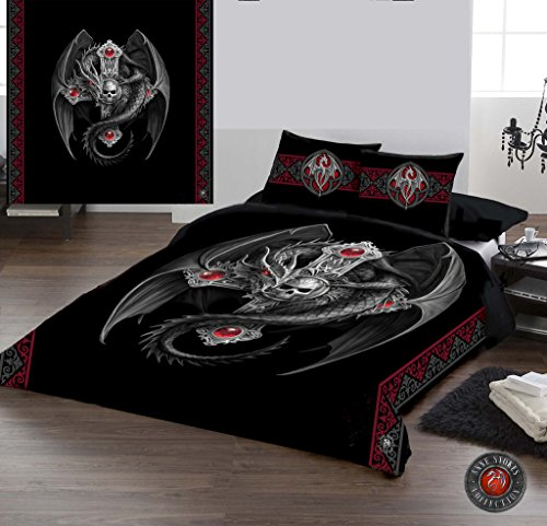 Wild Star Home Gothic Dragon - Duvet & Pillow Covers CASE Set QUEENSIZE Bed Art by Anne Stokes
