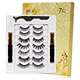 [ 7 Pairs Fake Eyelashes +2 Eyeliner] 7 Style Magnetic Eyelashes With Eyeliner, Magnetic Lashes And Eyeliner, Pestañas Postizas Naturales, False Eyelashes Natural Look And Thick False Lashes Pack