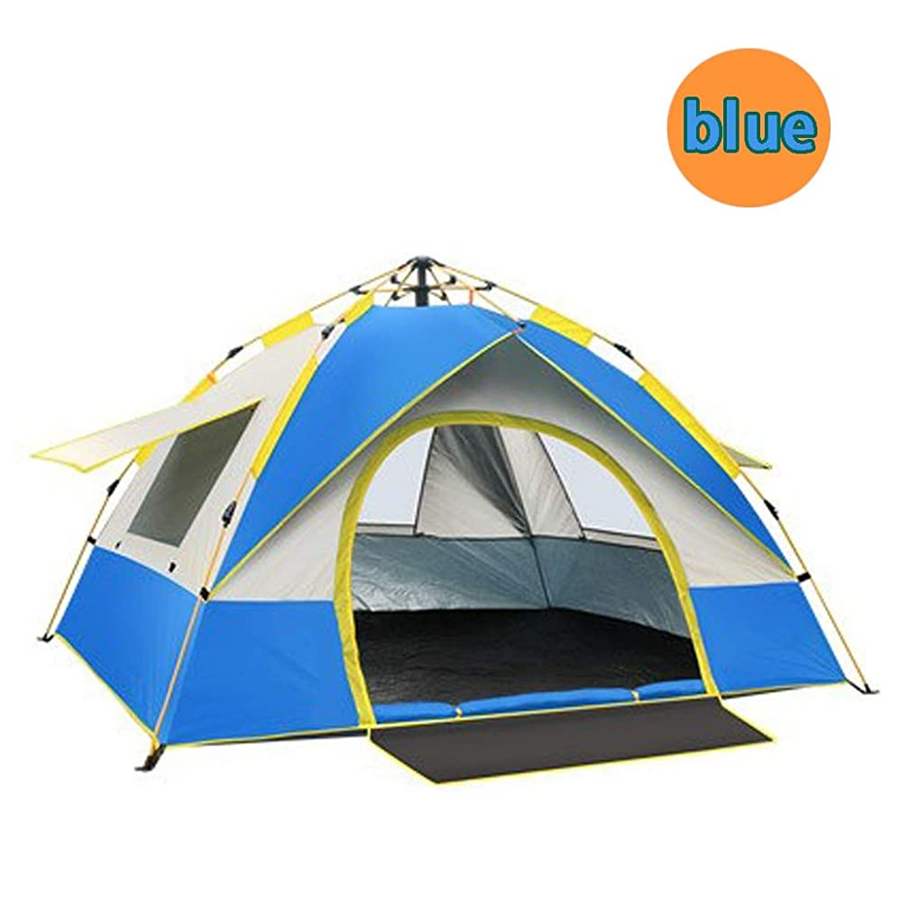 きょうだいライン重荷2人家族キャンプテント、自動インスタントポップアップ防雨ポリエステル生地外部アカウント防水インデックス3000 mm FamilyGroupsキャンプビーチテント