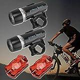 WOYAOY Juego de Luces de Bicicleta LED, luz de Bicicleta USB, luz Delantera/Trasera de luz de Bicicleta, luz Impermeable IPX6, luz de Bicicleta Recargable USB para Bicicleta