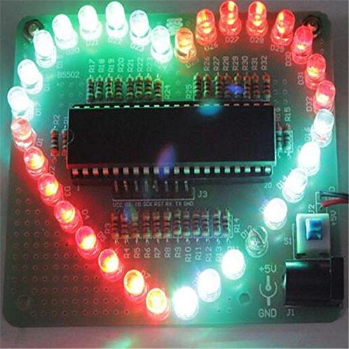 Bausatz: Farbenfrohes LED Herz