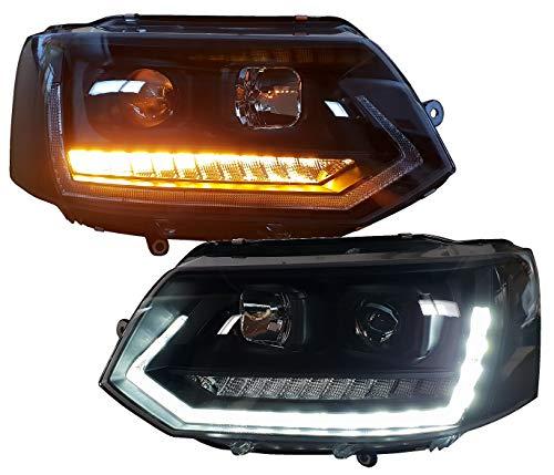 Scheinwerfer schwarz SWV42LGXBY Tagfahrlicht dynamischer LED Blinker Laufblinker
