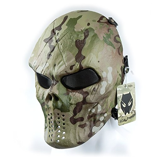 ATAIRSOFT Tactical Schützende Paintball Airsoft Kunststoff Hockey Cosplay Böse Half Face Maske MC