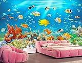 Papel Pintado 3D Tapiz Peces De Acuario Submarino Tv Fondo Pared Decorativos Papel Tapiz Wallpaper