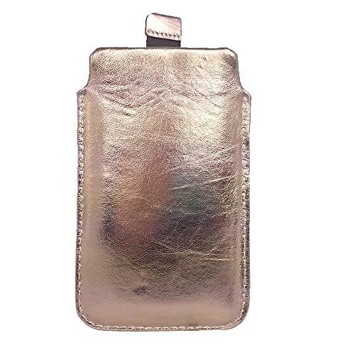 Premium ECHTLEDER Tasche hadegemacht Ledertasche Lederhülle für Sony Xperia Z Ultra Hülle, Schutzhülle, Schale, Handytasche, Handyhülle, Leder, Aus echtem Leder, Gold