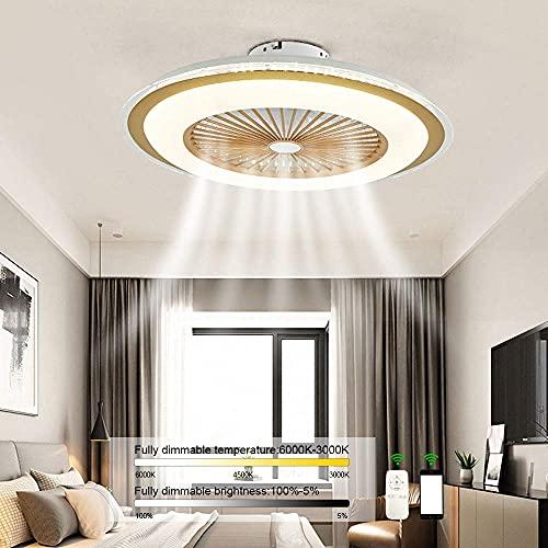 Ventilador de Techo LED con atenuación Continua y luz, Ventilador silencioso, lámpara de Montaje en el Techo y Ventilador de Control Remoto, Ventilador de araña, 3 Niveles de Velocidad del v