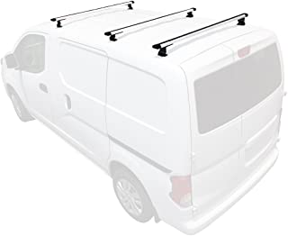 Vantech J1000 3 Bar for Nissan NV200 Ladder roof Rack 2013-On, White