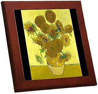 フィンセント・ファン・ゴッホ『 ひまわり 』の木枠付きフォトタイル2(世界の名画シリーズ) (A)