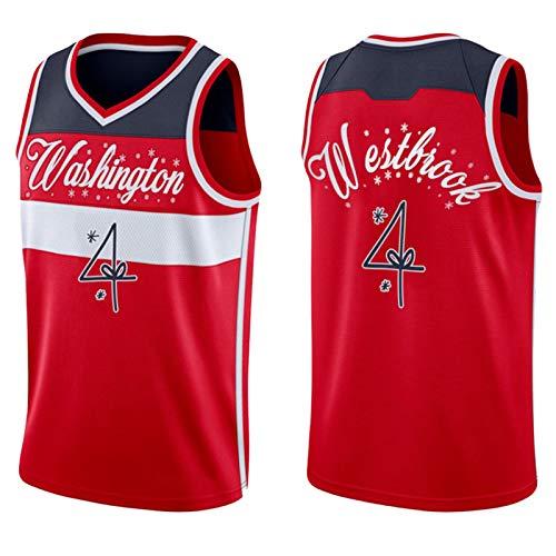 FIFE RǔSSěLLL Wěstbrǒǒk Jersey de Baloncesto Masculino - 2020-21 Adultos Malla de Malla Sweatshirt / 4# Christmas Jersey-XXL