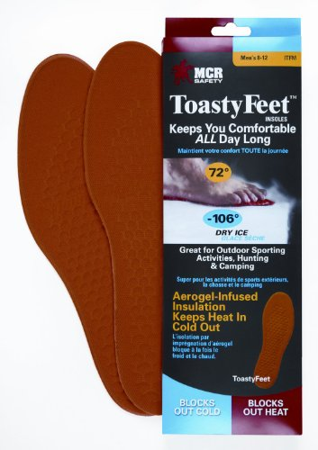 Safety Works CTFM Toasty Feet Mens Shoe insoles Infused with Aerogel for Sizes 8-12