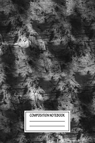 Composition Notebook: Abstract Abstract Grey And Black Art Variety Wide Ruled Note Book, Diary, Planner, Journal for Writing